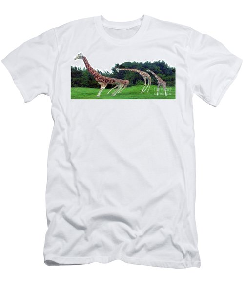 Men's T-Shirt (Athletic Fit) featuring the digital art Psychedelic Giraffes by Merton Allen