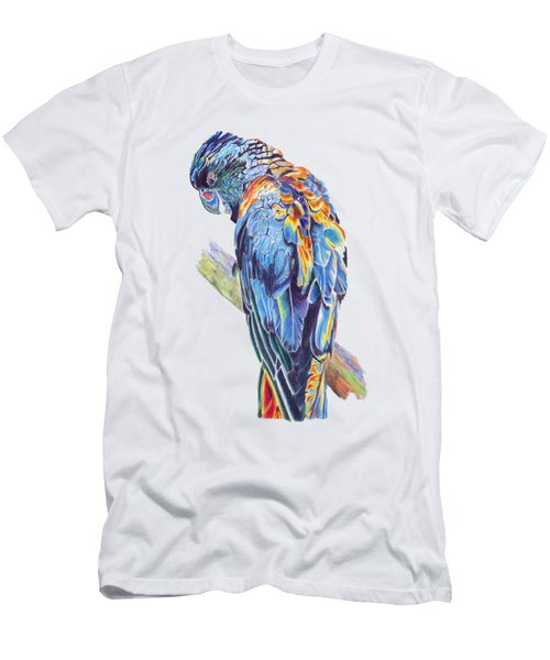 Psychedelic Parrot Men's T-Shirt (Slim Fit) by Lorraine Kelly