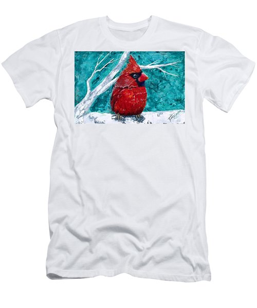 Pudgy Cardinal Men's T-Shirt (Athletic Fit)