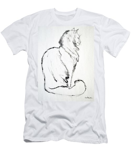 Men's T-Shirt (Slim Fit) featuring the drawing Puff by Joan Hartenstein