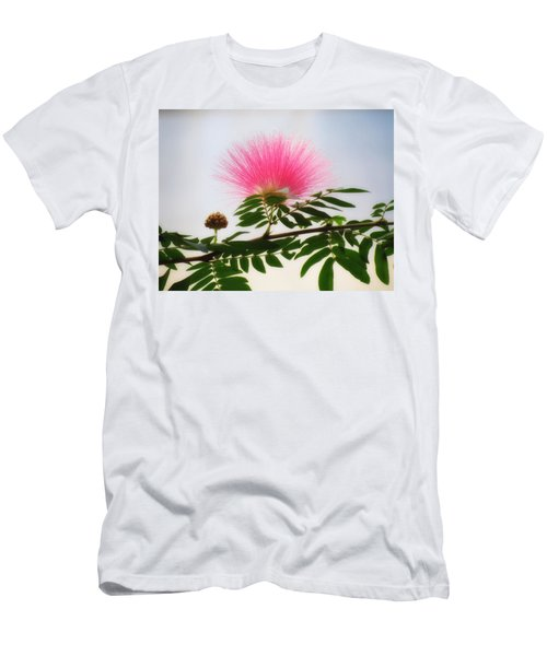 Puff Of Pink - Mimosa Flower Men's T-Shirt (Slim Fit) by MTBobbins Photography