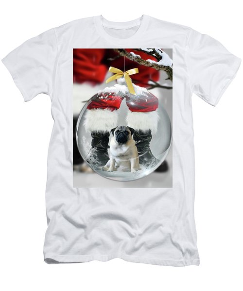 Pug And Santa Men's T-Shirt (Athletic Fit)