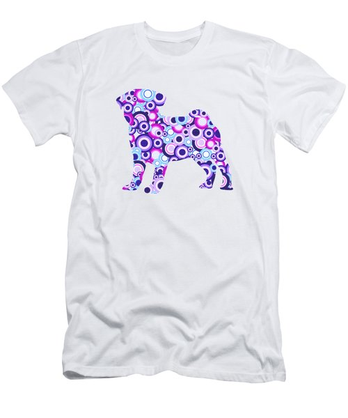 Pug - Animal Art Men's T-Shirt (Athletic Fit)
