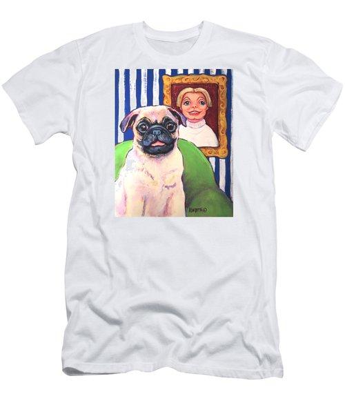 Pug - Beth Ann And Butch Men's T-Shirt (Slim Fit) by Rebecca Korpita