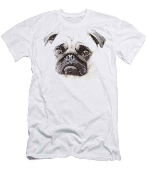 Pug Dog -  Parallel Hatching Men's T-Shirt (Athletic Fit)