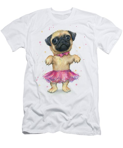 Pug In A Tutu Men's T-Shirt (Athletic Fit)