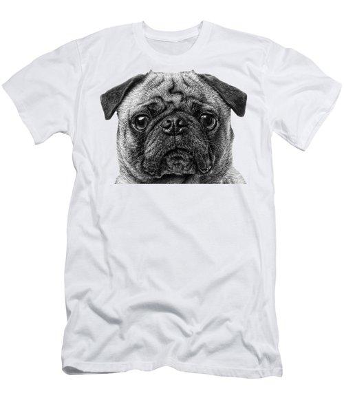Pug T-shirt Men's T-Shirt (Athletic Fit)