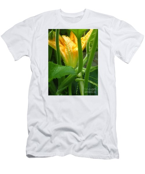 Men's T-Shirt (Slim Fit) featuring the photograph Pumpkin Blossom by Christina Verdgeline