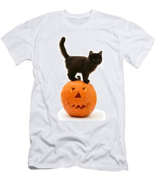 Pumpkin Riding Men's T-Shirt (Athletic Fit)