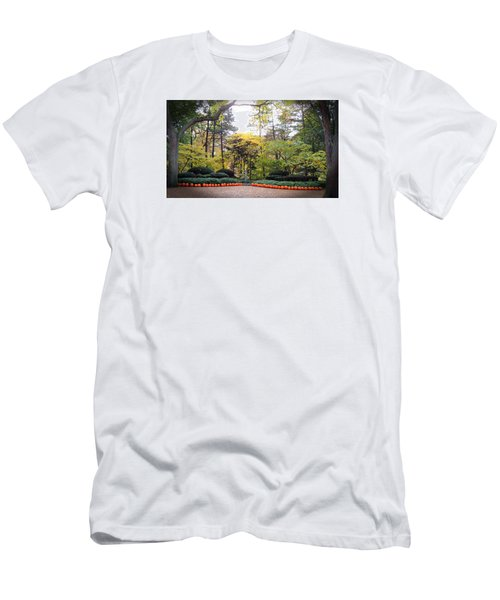 Pumpkins In A Row Men's T-Shirt (Slim Fit) by Teresa Schomig