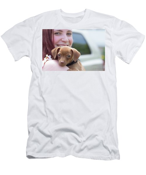 Puppy And Smiles Men's T-Shirt (Athletic Fit)