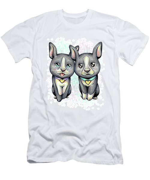 Puppy Love Boston Terrier Men's T-Shirt (Athletic Fit)