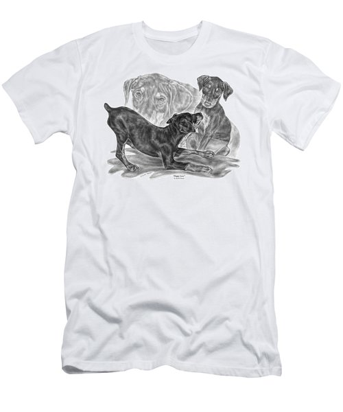 Puppy Love - Doberman Pinscher Pup Men's T-Shirt (Athletic Fit)