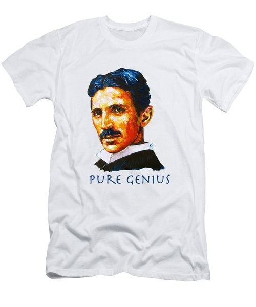 Pure Genius - Tesla Men's T-Shirt (Athletic Fit)