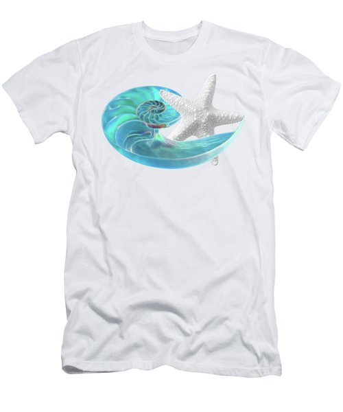 Pure Joy - Starfish With Nautilus Shell Men's T-Shirt (Athletic Fit)