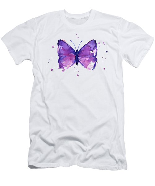 Purple Abstract Butterfly Men's T-Shirt (Athletic Fit)