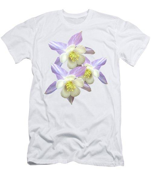 Men's T-Shirt (Slim Fit) featuring the photograph Purple Aquilegia by Gill Billington