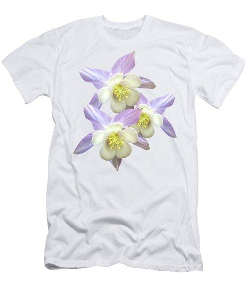 Purple Aquilegia Men's T-Shirt (Athletic Fit)