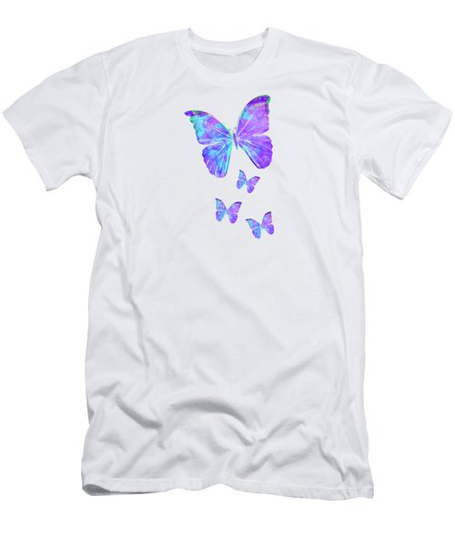 Purple Butterflies By Jan Marvin Men's T-Shirt (Athletic Fit)