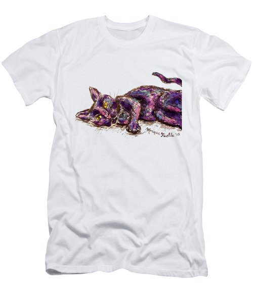 Purple Cat Men's T-Shirt (Athletic Fit)