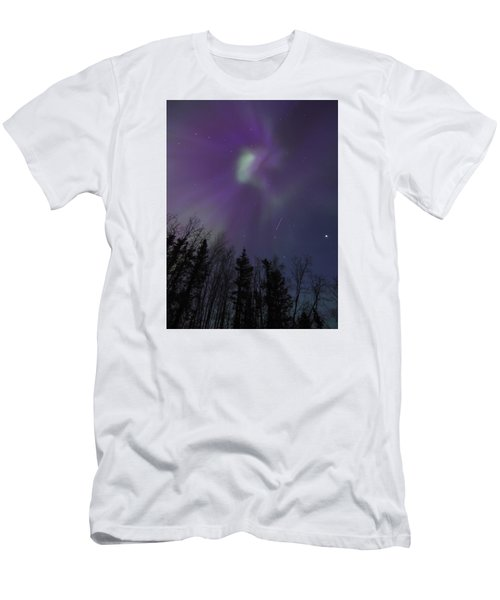 Purple Corona Men's T-Shirt (Athletic Fit)