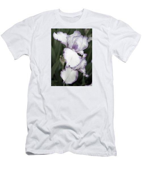 Men's T-Shirt (Slim Fit) featuring the photograph Purple Is Passion by Sherry Hallemeier