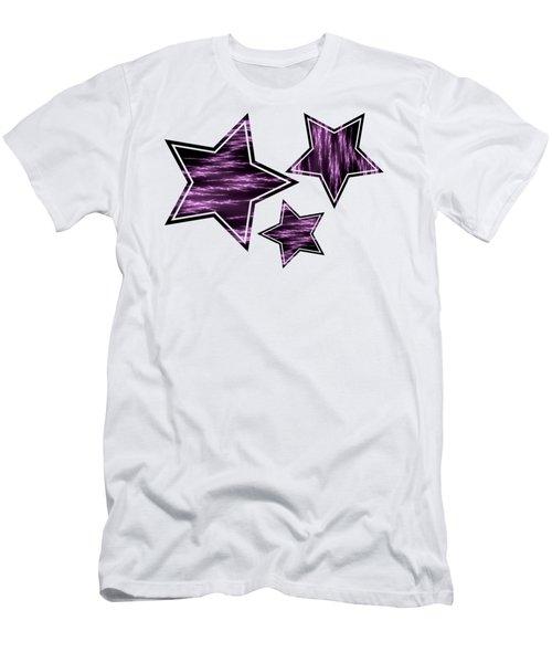 Purple Lightening Men's T-Shirt (Athletic Fit)