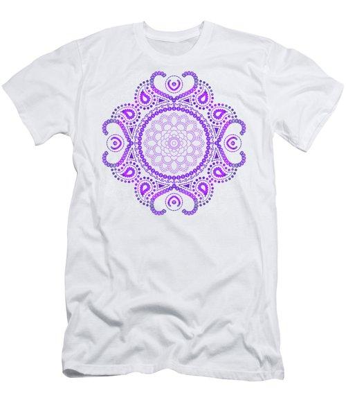 Purple Lotus Mandala Men's T-Shirt (Athletic Fit)
