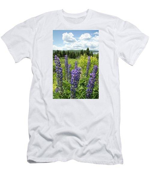 Purple Lupines Men's T-Shirt (Slim Fit)