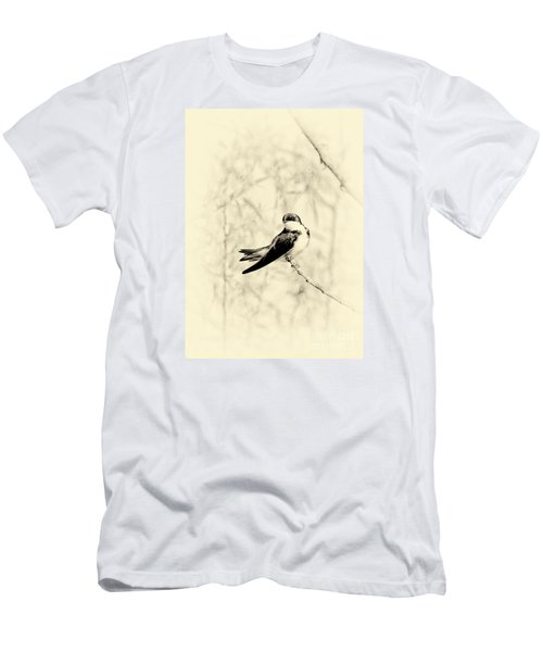 Purple Martin Men's T-Shirt (Slim Fit) by Lila Fisher-Wenzel