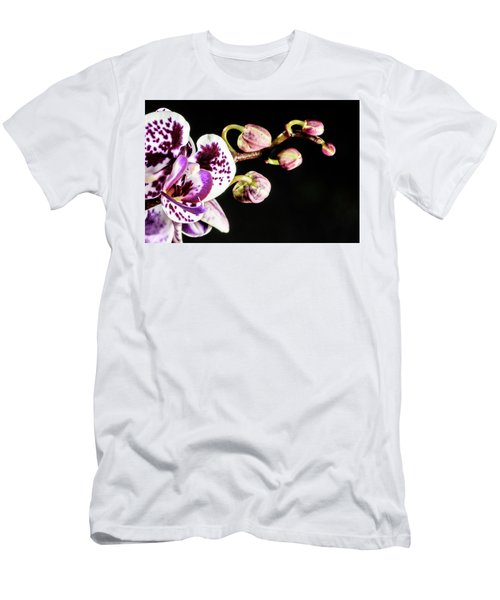 Purple Orchid Reaching Out Men's T-Shirt (Athletic Fit)
