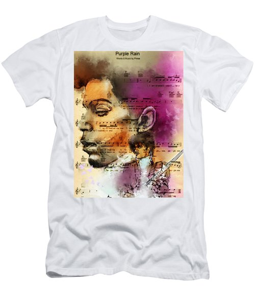 Purple Rain Forever Men's T-Shirt (Athletic Fit)