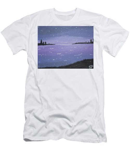 Purple Skies Men's T-Shirt (Slim Fit) by Cyrionna The Cyerial Artist