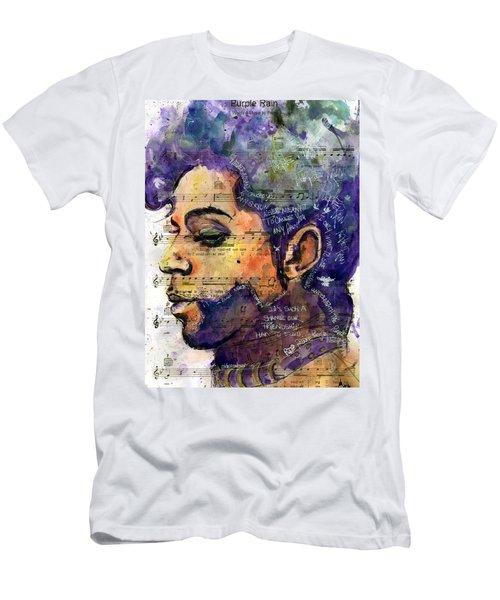 Purple Tears Men's T-Shirt (Slim Fit) by Howard Barry
