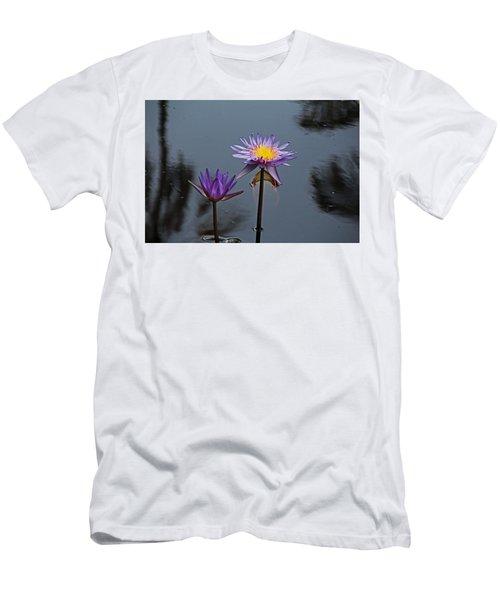 Purple Two-step Men's T-Shirt (Athletic Fit)