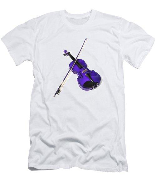 Purple Violin Men's T-Shirt (Athletic Fit)