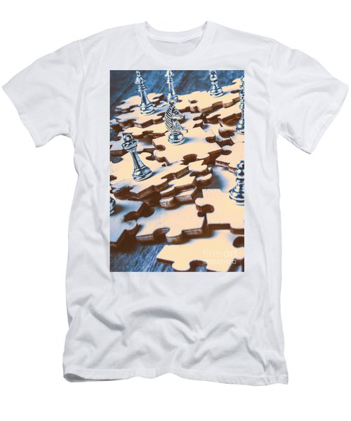 Puzzle Of Mysteries And Strategy Men's T-Shirt (Athletic Fit)