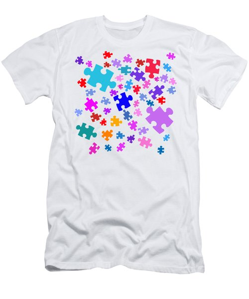 Puzzle Pieces Men's T-Shirt (Slim Fit)