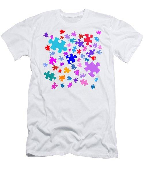 Puzzle Pieces Men's T-Shirt (Athletic Fit)