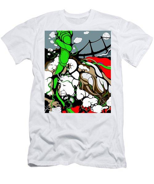 Quad Peace Planted 4 Vines Men's T-Shirt (Athletic Fit)