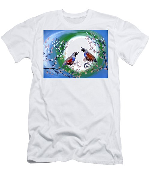 Quails And Moonlight Men's T-Shirt (Athletic Fit)