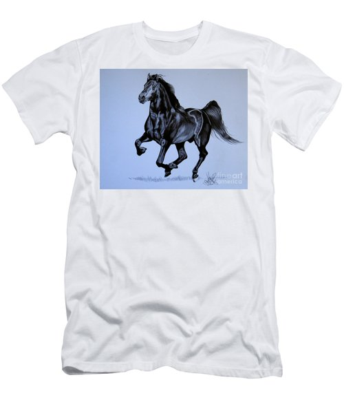 The Black Quarter Horse In Bic Pen Men's T-Shirt (Athletic Fit)