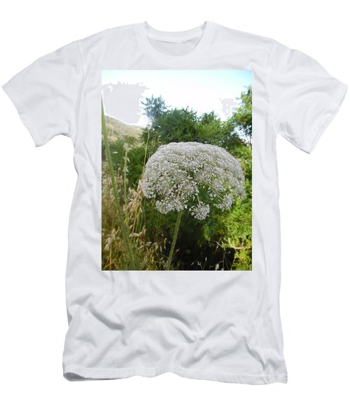 Men's T-Shirt (Athletic Fit) featuring the photograph Queen Anne's Lace by Esther Newman-Cohen