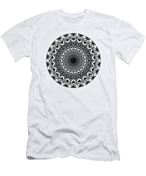 Queen Of Hearts King Of Diamonds Mandala Men's T-Shirt (Athletic Fit)