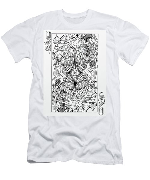 Queen Of Spades  Men's T-Shirt (Slim Fit) by Jani Freimann