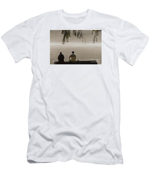 Men's T-Shirt (Slim Fit) featuring the photograph Quiet Time by Inge Riis McDonald