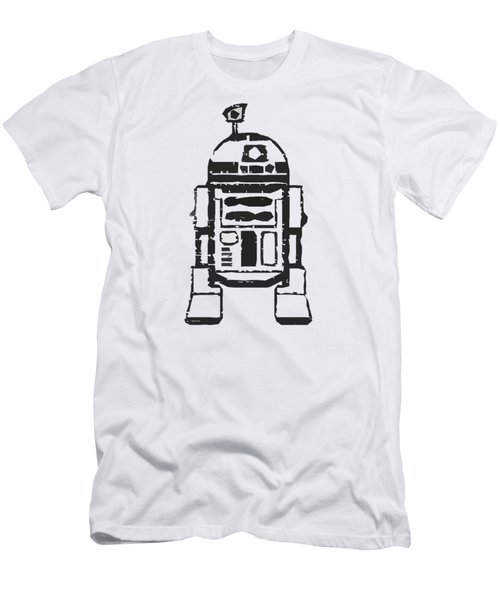 Men's T-Shirt (Slim Fit) featuring the drawing R2d2 Star Wars Robot by Edward Fielding