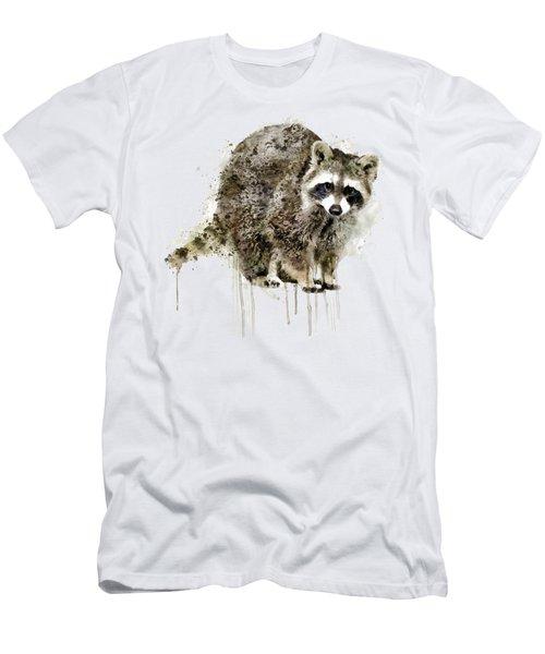 Raccoon Men's T-Shirt (Slim Fit) by Marian Voicu