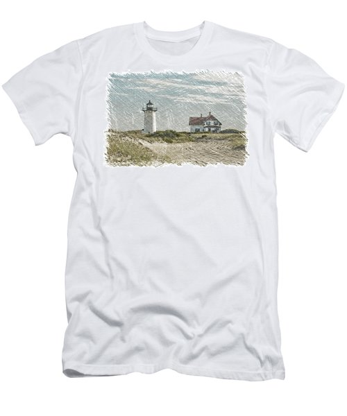 Men's T-Shirt (Slim Fit) featuring the photograph Race Point Lighthouse by Paul Miller