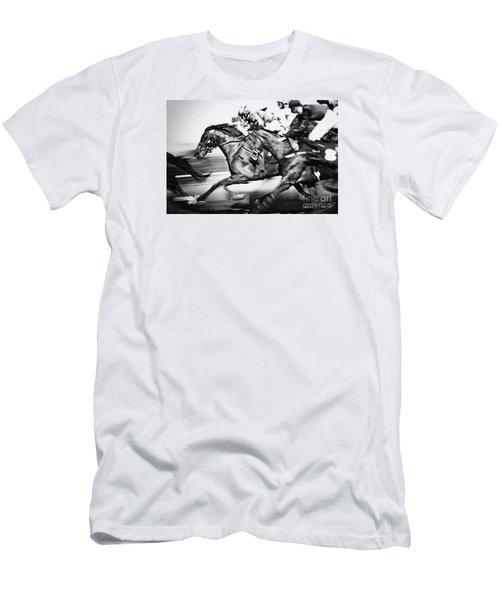 Racing Horses Men's T-Shirt (Athletic Fit)